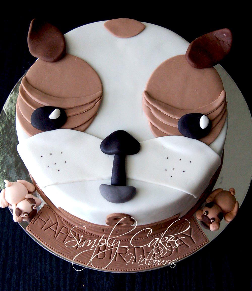 Simply Cakes Melbourne Pug Dog Cake For Daniel