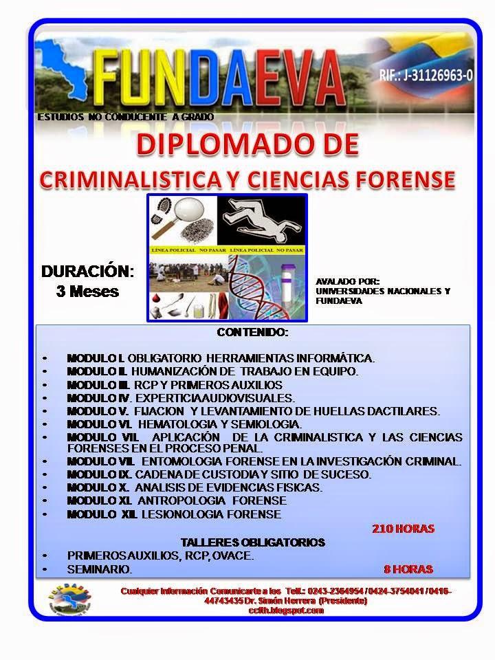 DIP CRIMINALISTICA Y CIENCIA FORENSE