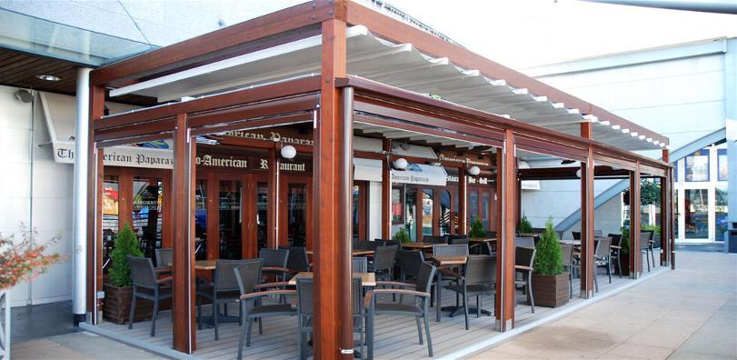 Porche de techo de vidrio madrid cerramientos y for Techo para terraza exterior