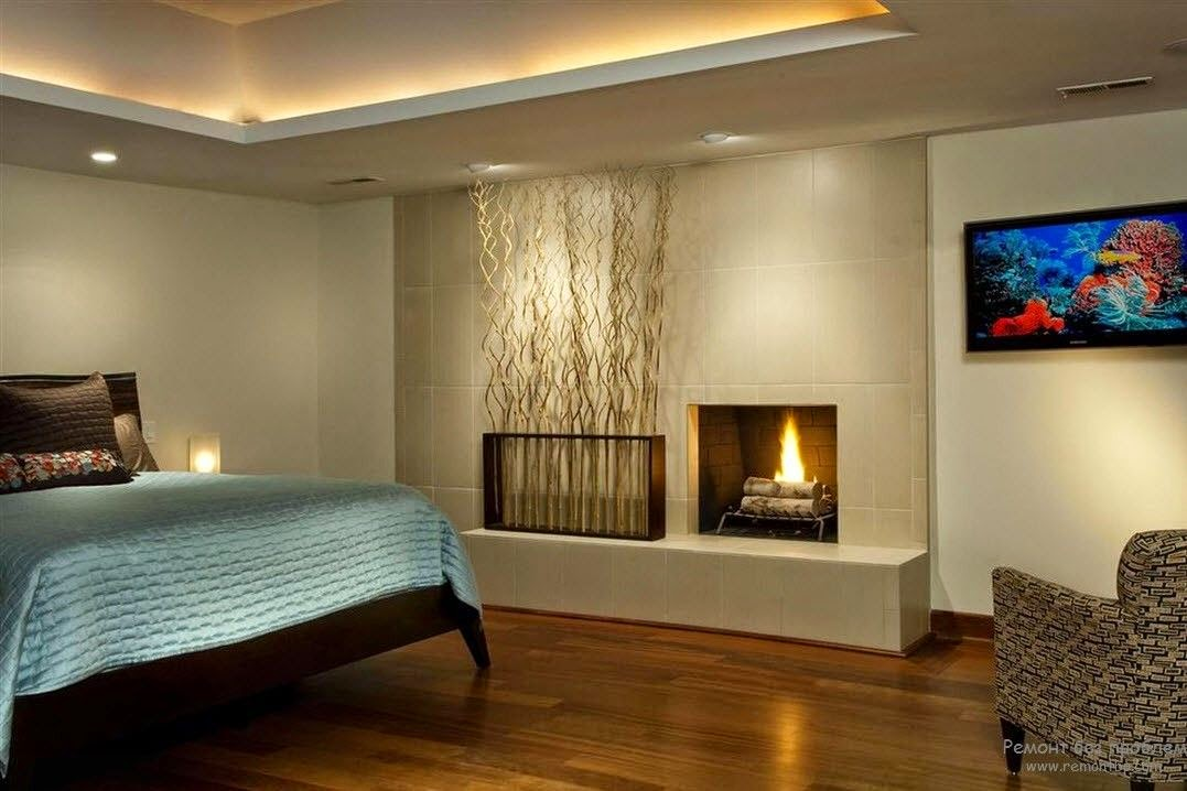 modern bedroom decorating ideas decorative fireplace
