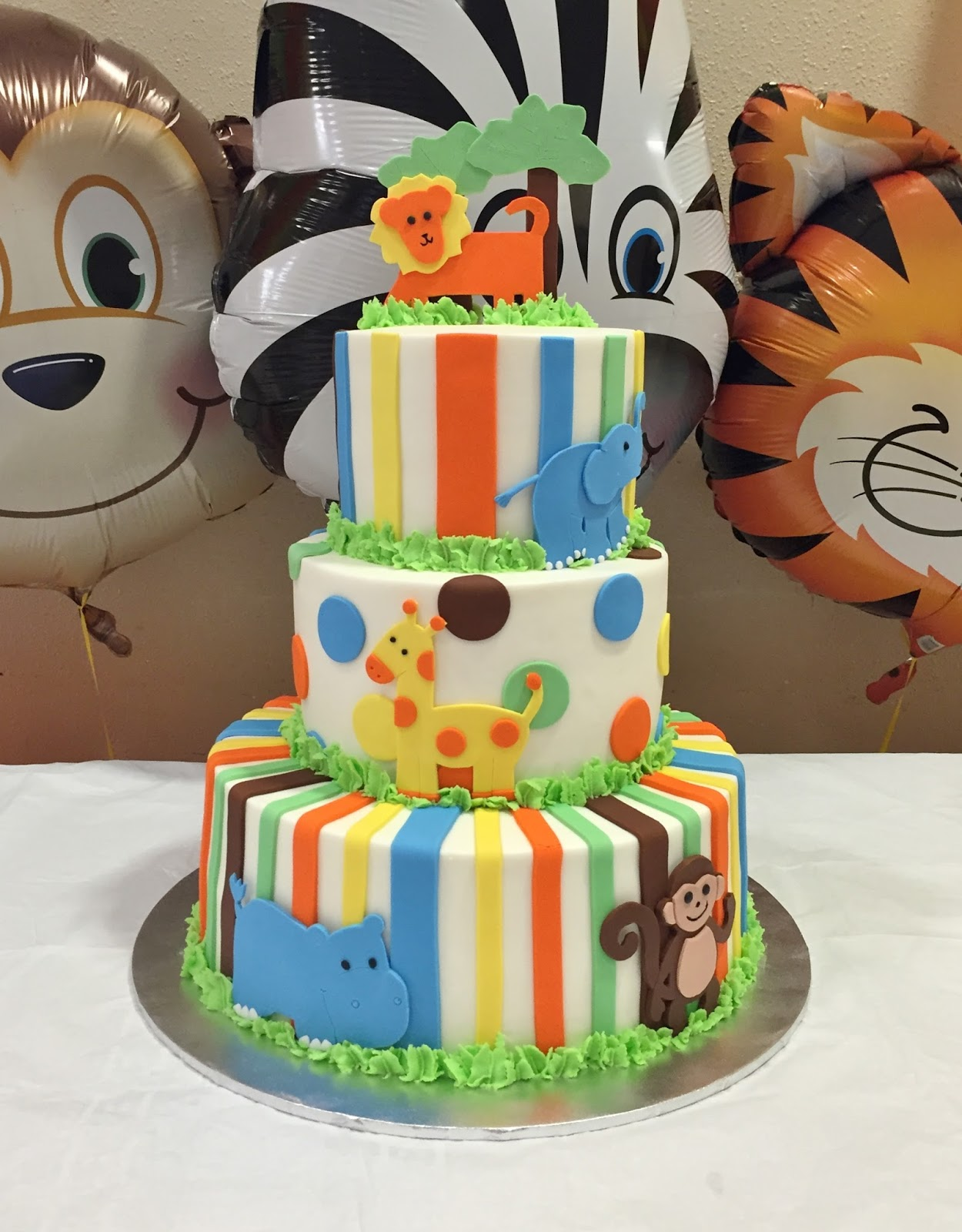 cakes by mindy jungle themed baby shower cake 6 8 12