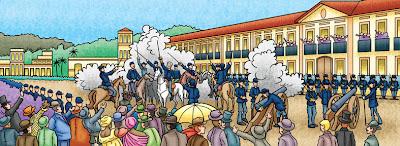 Ilustração histórica - por Alexander Santos
