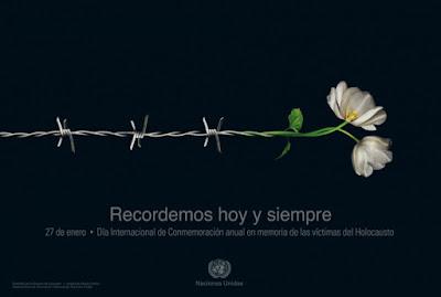 El Día Internacional de Recordación del Holocausto será conmemorado en 100 países