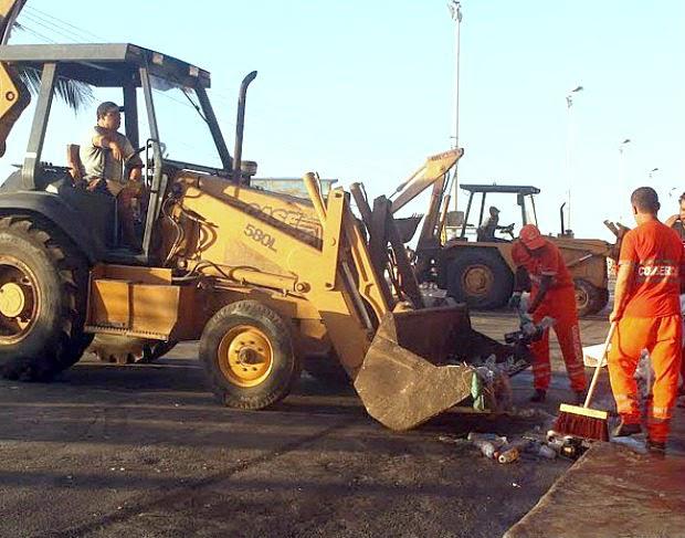 Mais de 800 toneladas de lixo são recolhidos após Réveillon em Cabo Frio