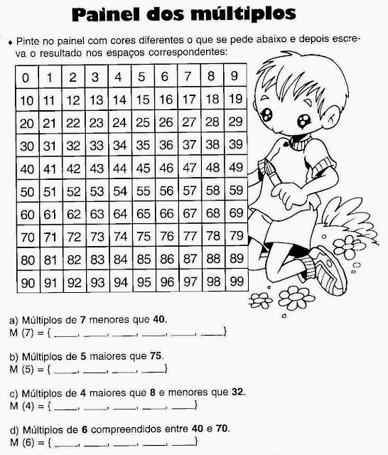 Exercícios matemática 3 ano fundamental