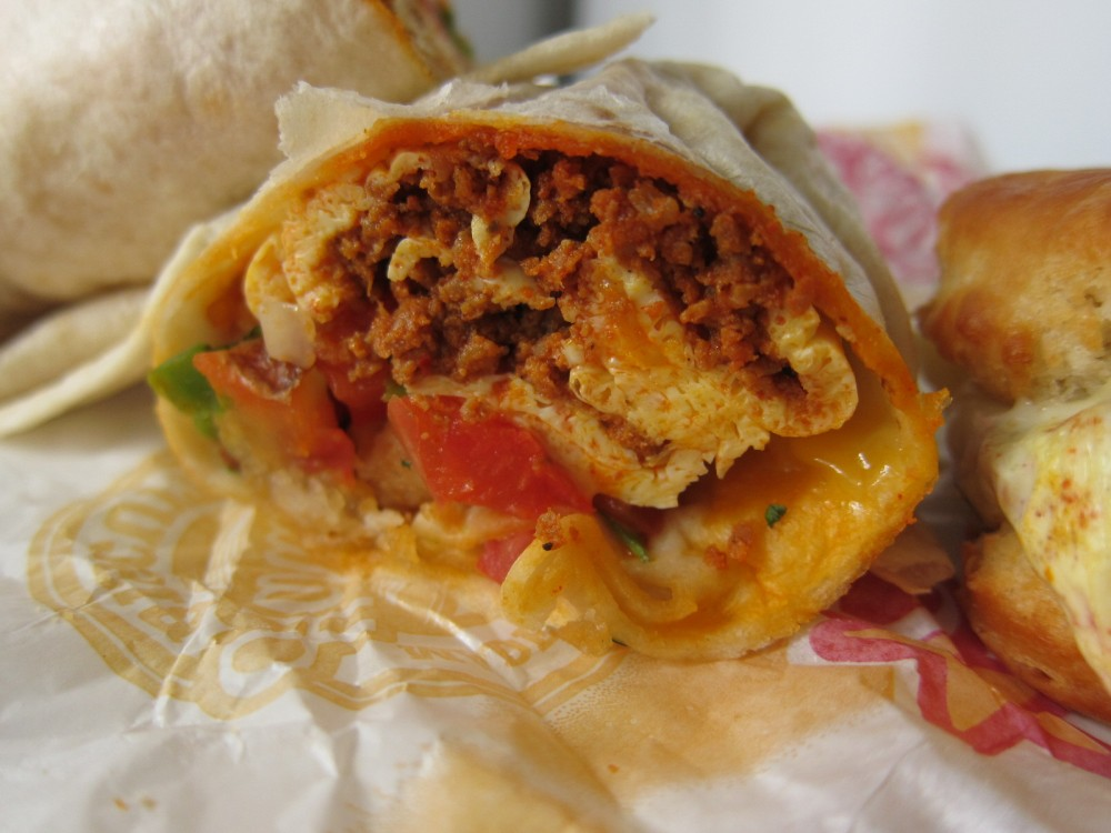 ... Carl's Jr. - Chorizo, Egg & Cheese Biscuit and Burrito | Brand Ea...