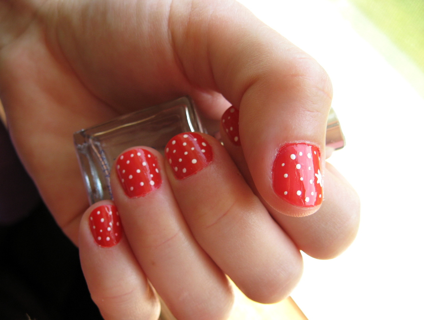 Red and White Acrylic Nail Designs