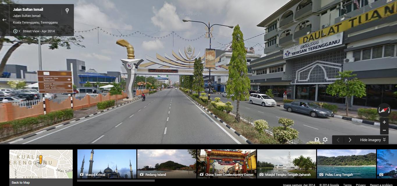 Google street view Kuala Terengganu
