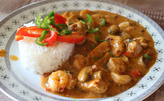 Superb Thai curry cooked by Chaz
