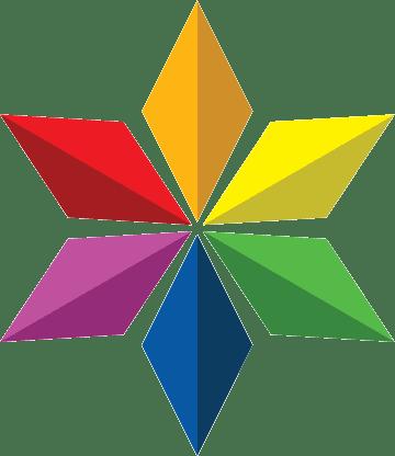 Rainbow Jewish Star Of David