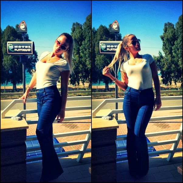 Franceska, sexy in jeans