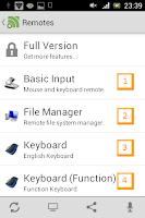 Podstawowe funkcje programu Unified Remote okno pierwsze