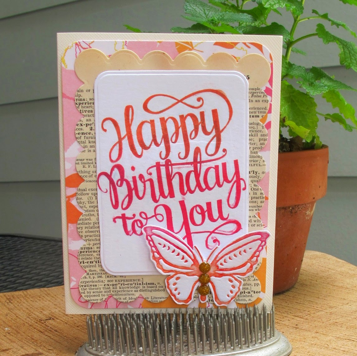 DIY LETTERPRESS WITH CLEAR STAMPS
