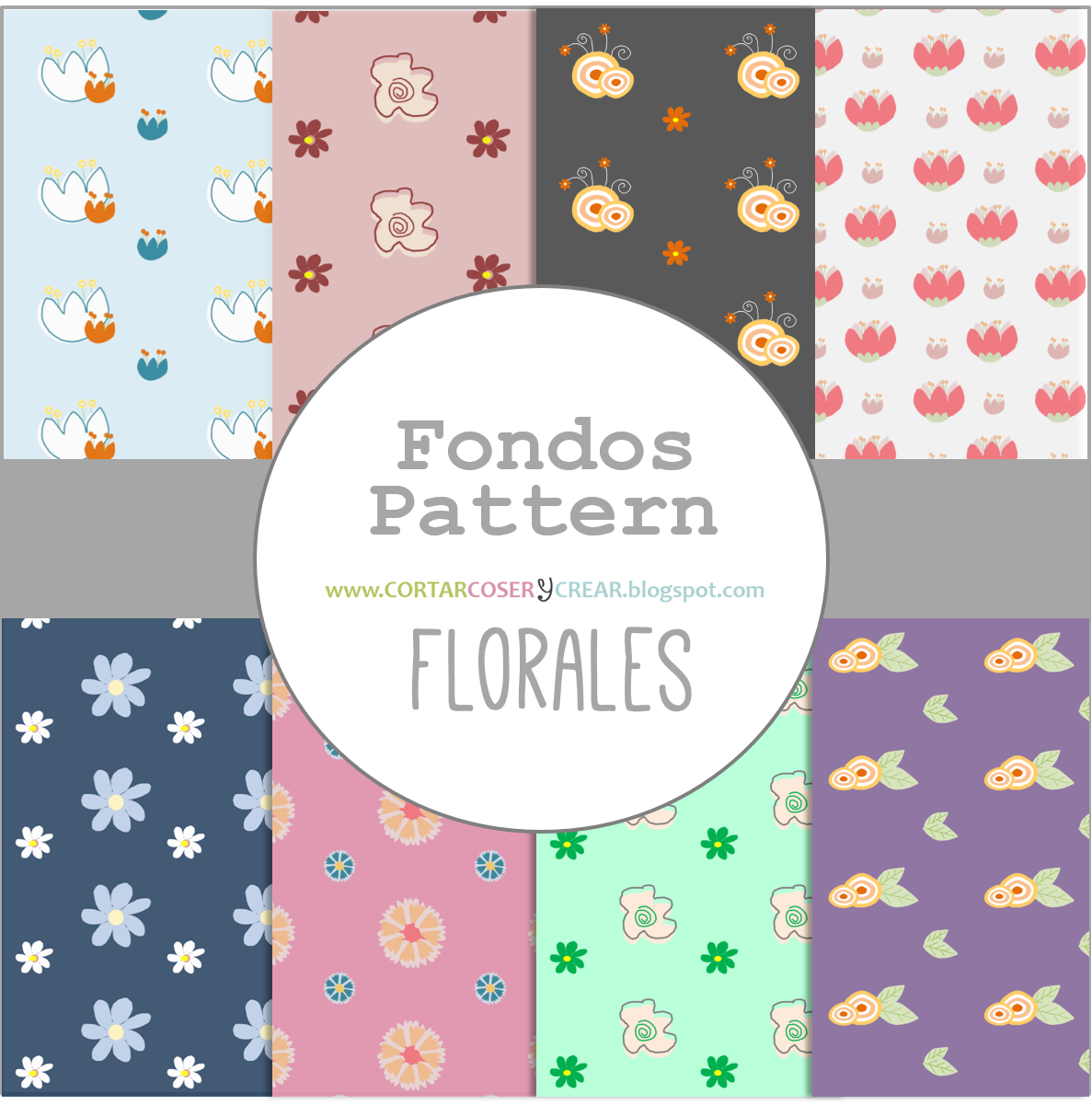 fondos recursos gratuitos flores pattern