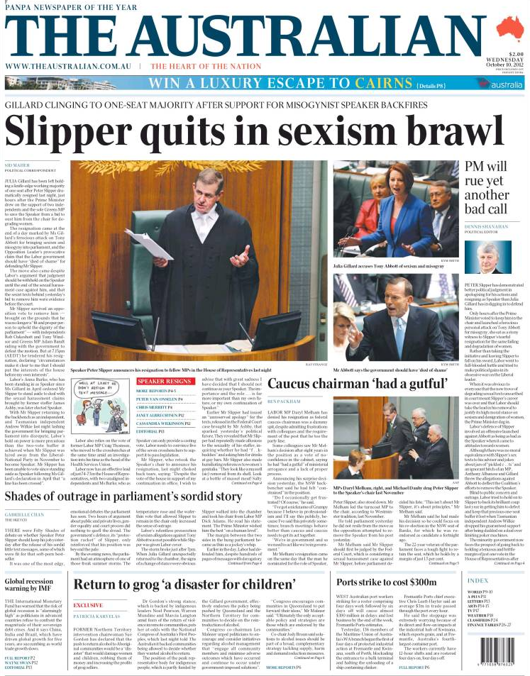 The+Australian,+2012 10 10,+front+page,+Slipper+quits+in+sexism+brawl Polaroid and old school sexting