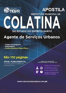 Apostila Prefeitura de Colatina Agente de Serviços Urbanos (GARI) 2015