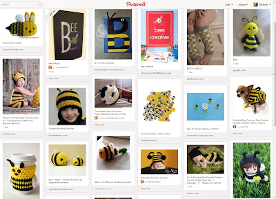 Bee-themed Pinterest board