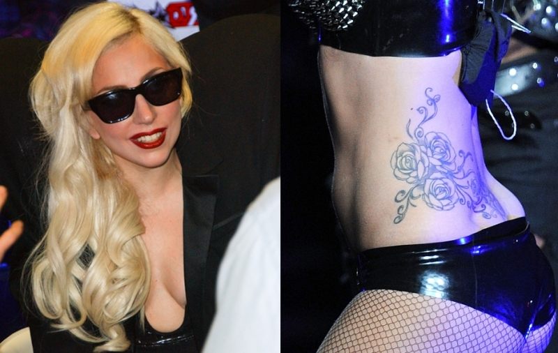 Lady Gaga Tattoos Only On Left Side Of Her Body