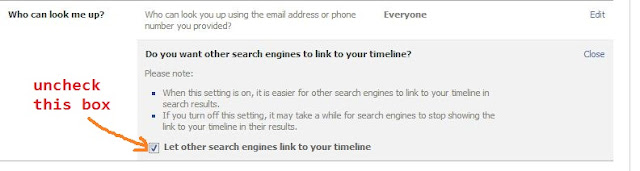 Remove your Facebook Profile from Search Engines