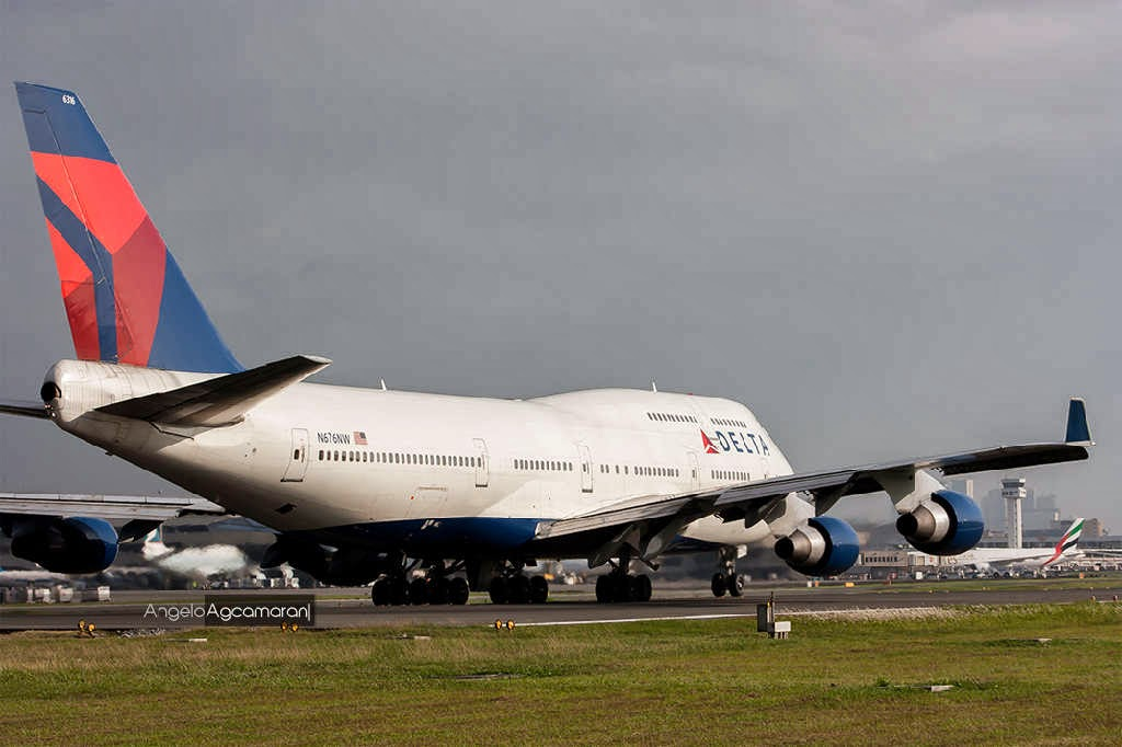 delta airlines boeing 747