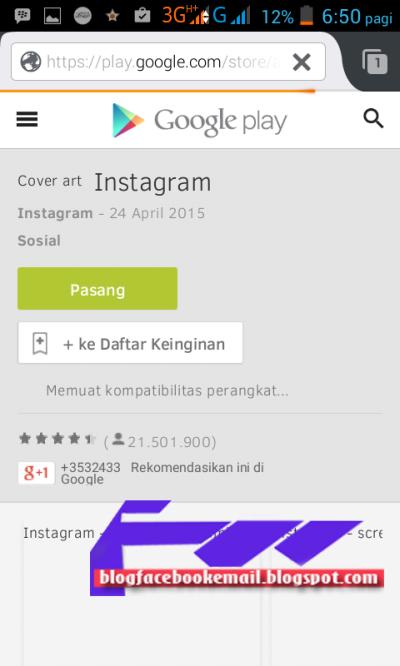 Cara Daftar Membuat Akun Instagram Android