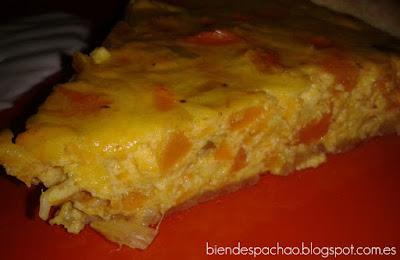 pastel salado de calabaza y curry