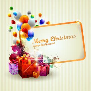 クリスマスプレゼントのテキストフレーム beautiful christmas gift box イラスト素材