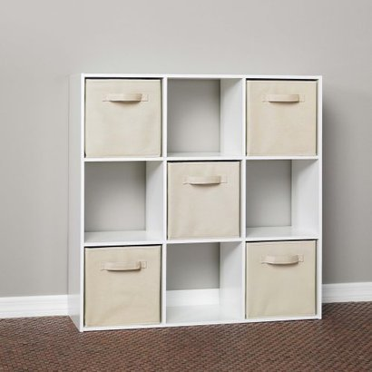ClosetMaid 9 Cube Organizer Cabinet In White Or Black At About $52.00 And  The ClosetMaid Fabric Drawers Come In A Wide Range Of Colors And Are About  $7.00 A ...