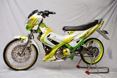 Suzuki Satria FU Modif Kuning