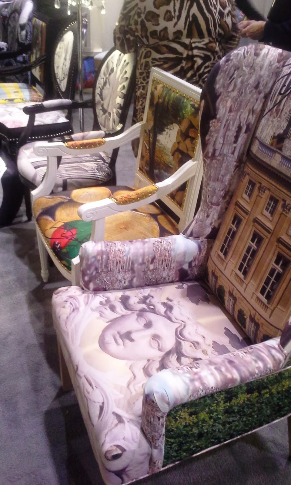 Upholstered Chairs at The Interior Design Show in Toronto, fashion, interior design blogger style Melanie.Ps The Purple Scarf