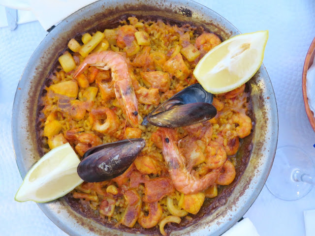 Marbella Spain Summer Holiday Food Seafood Paella