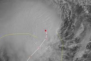 Zyklon IGGY vor Australien ist jetzt ein Hurrikan, Iggy, Satellitenbild Satellitenbilder, aktuell, Januar, 2012, Australien, Australische Zyklonsaison, Vorhersage Forecast Prognose, Verlauf, Zugbahn,