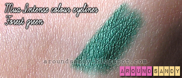 MUA - Intense Colour Eyeliners forest green review swatches opinión