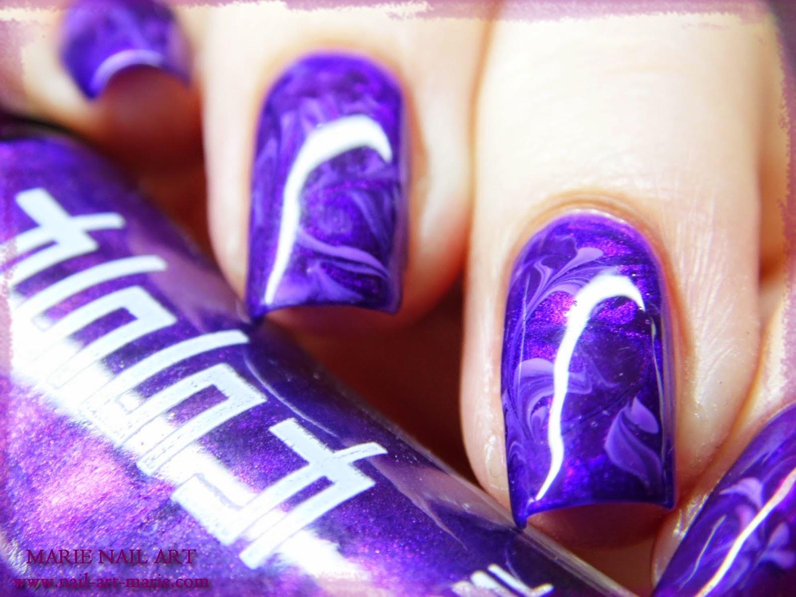 nail art effet améthyste3