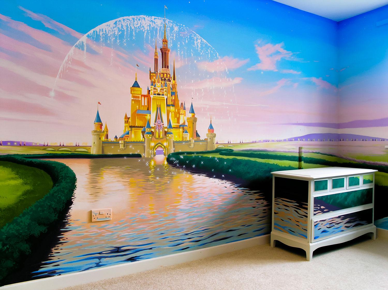 Sacredart meanderings for Disney castle mural wallpaper
