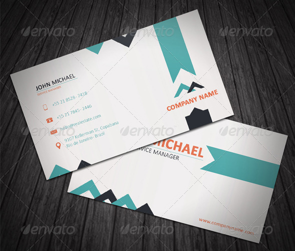 Top 10 best real estate business cards templates graphicbattle real estate business card template colourmoves