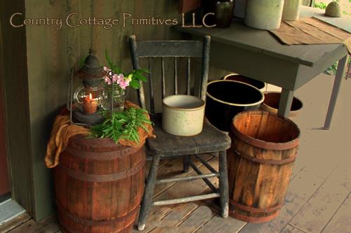 Country Cottage Primitives Rustic Patio Lantern