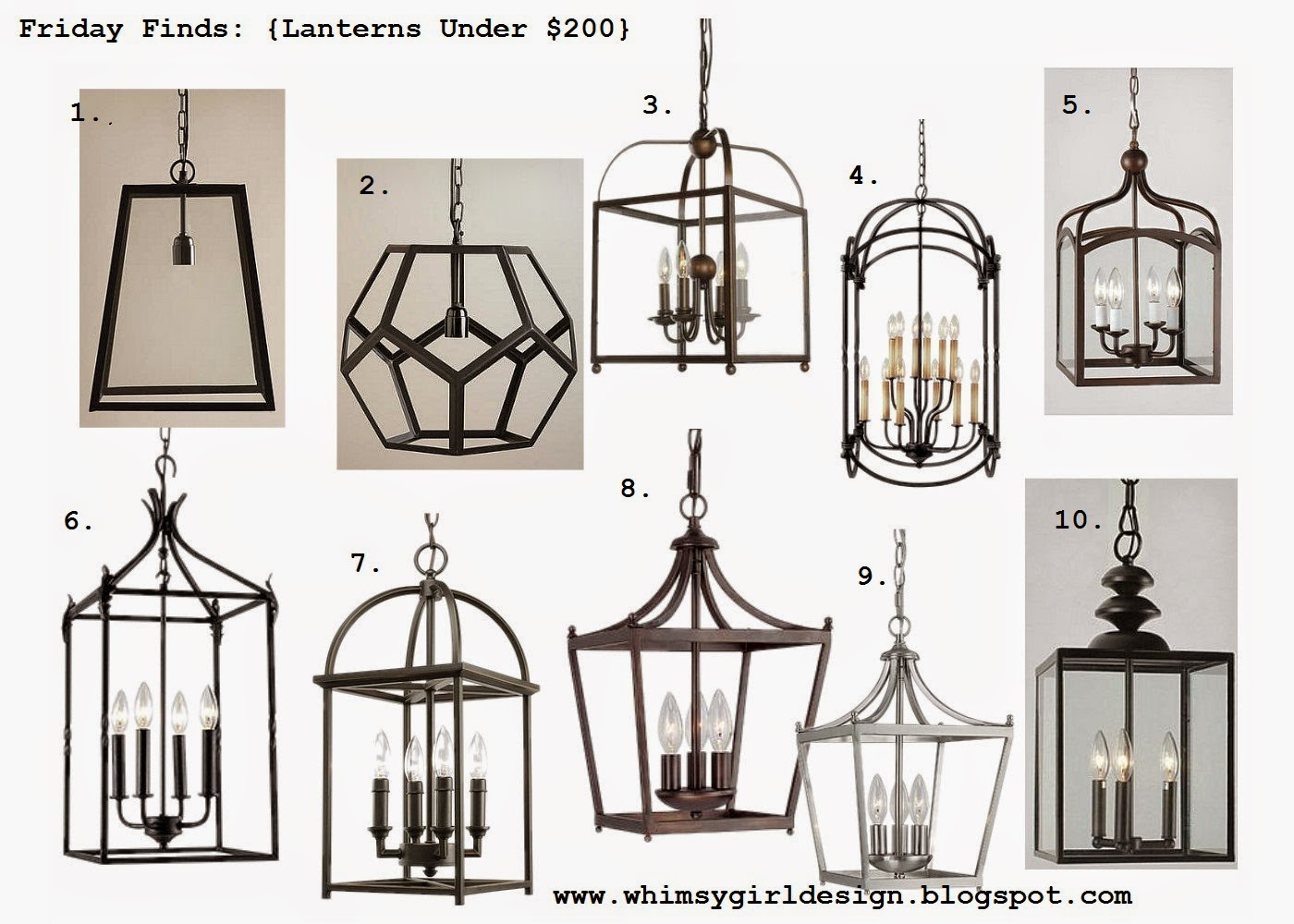 Whimsy Girl Friday Finds Lanterns Under 200