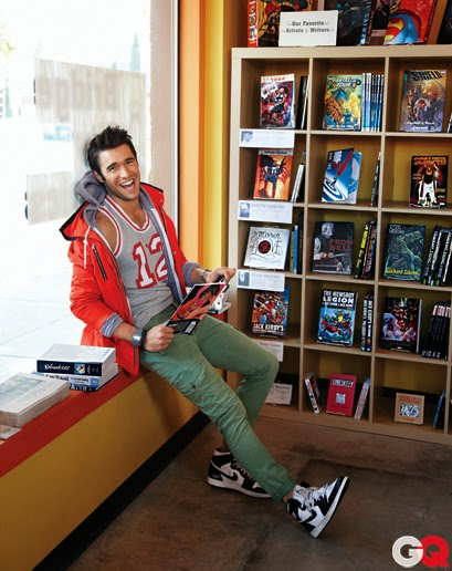 black and white sneakers, grey hoodie, grey tanktop, red raincoat, spring, summer, green cargo pants,
