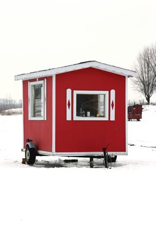 Ice fishing shack hut shanty mania for Ice fishing shelters