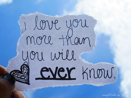 I Love You More Quotes : Him sing,