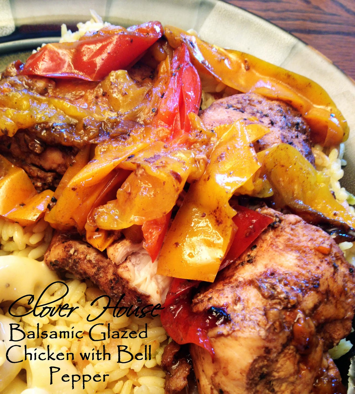 ... instead of a house project. Balsamic glazed chicken with bell peppers
