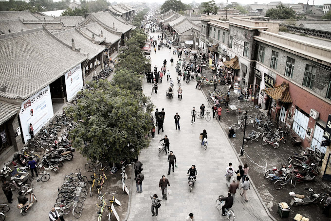 Shaanxi photos, Pinyao China streets