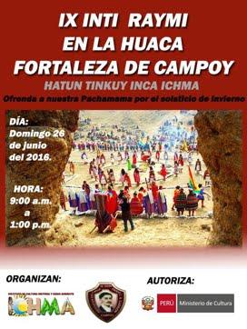 DOM 26 JUN / IX INTI RAYMI EN LA FORTALEZA DE CAMPOY
