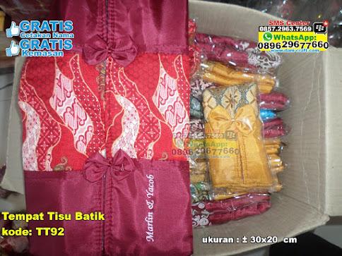 Tempat Tisu Batik jual