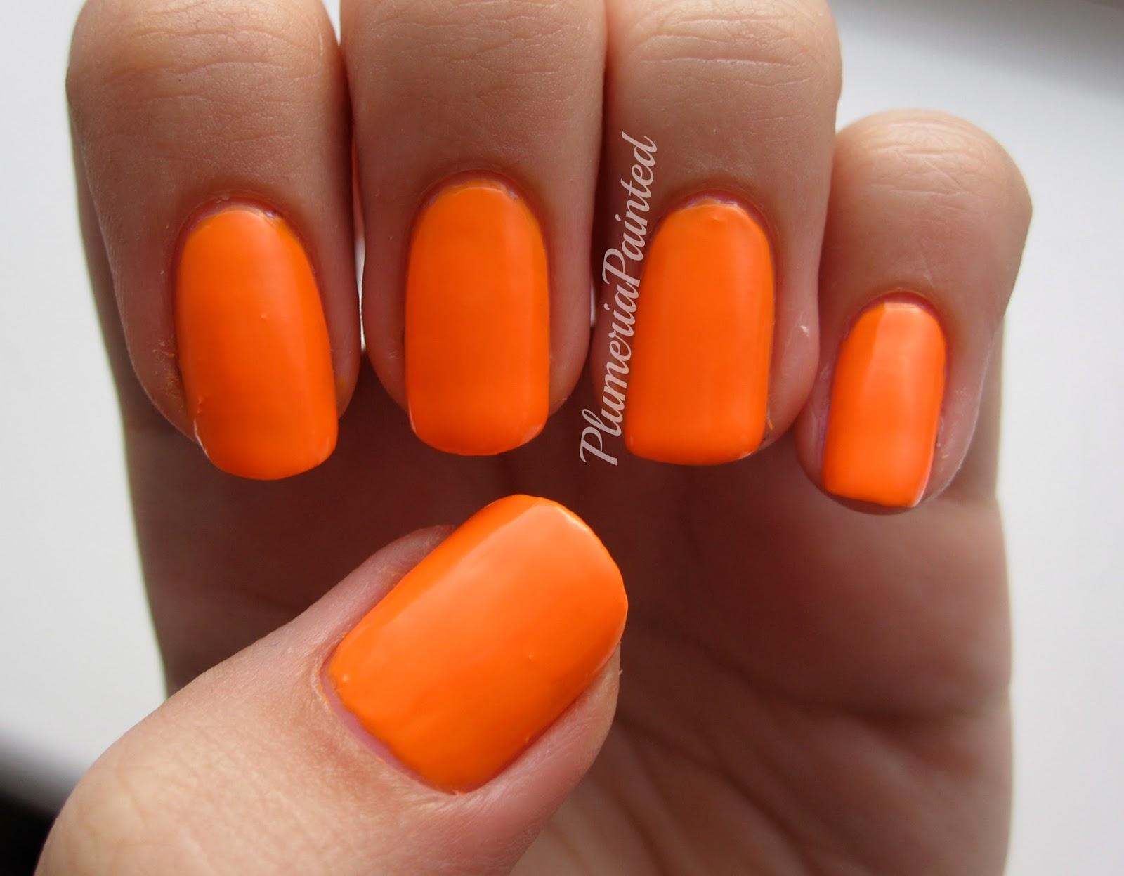 PlumeriaPainted: Orange Nails: Models Own - Beach Party