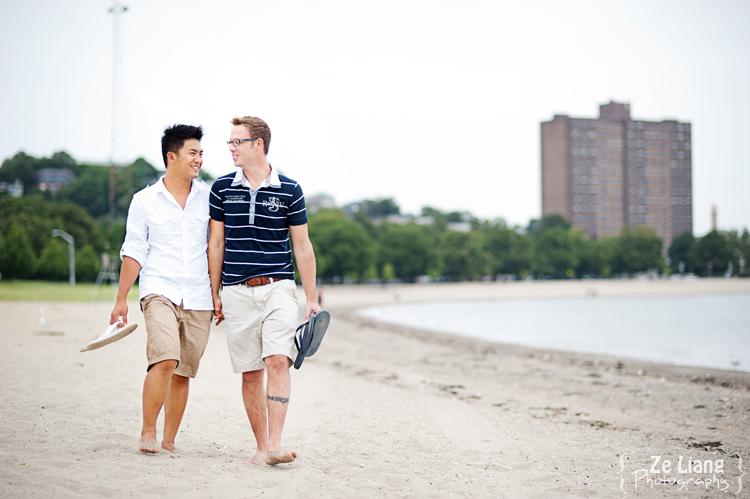 same-sex engagement session castle island boston ben&justin 02