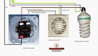 doble interruptor encendido lampara mas extractor