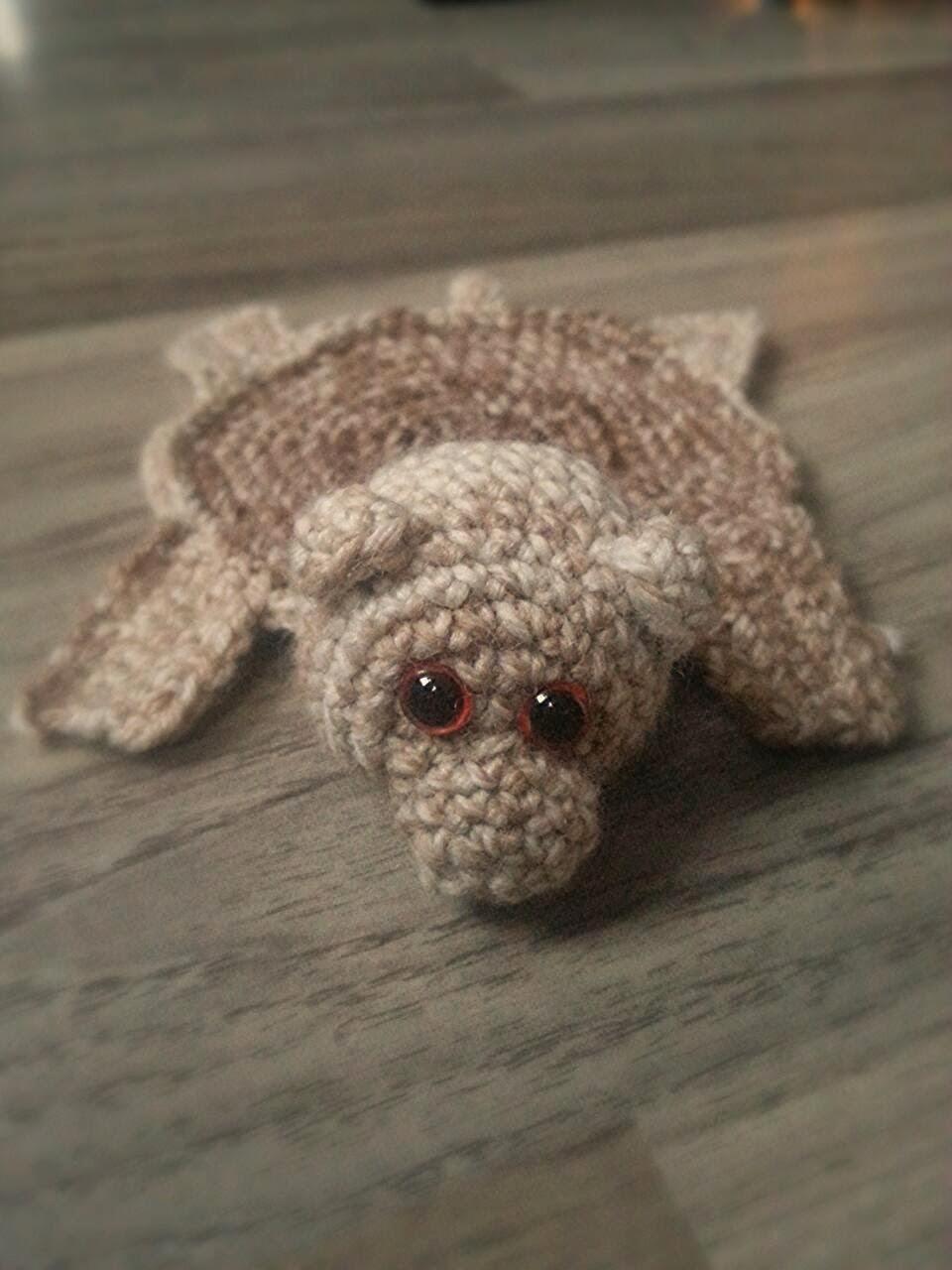 Lariath Live A Little Crochet Bear Rug Coaster And