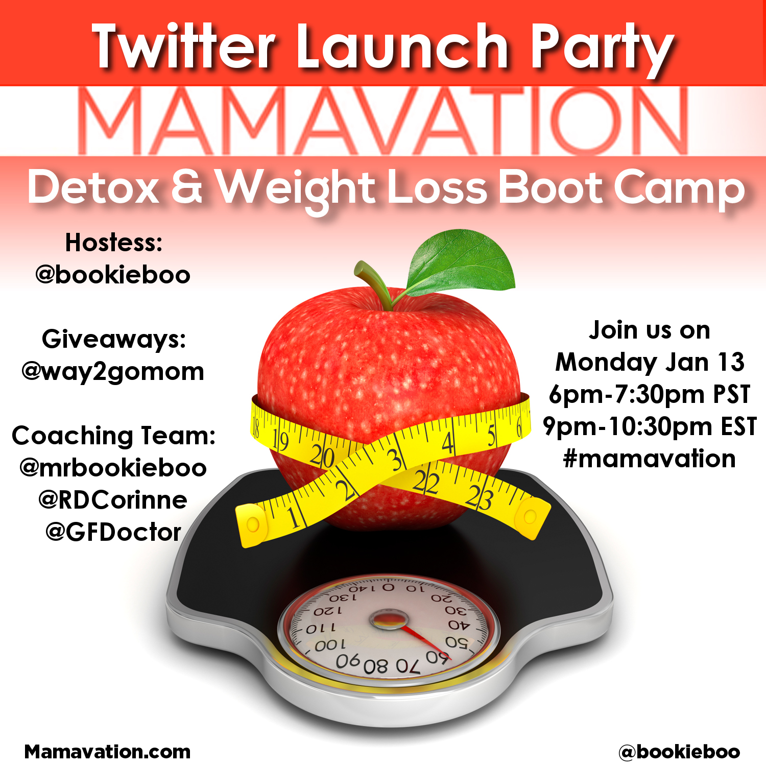 Mamavation Monday Twitter Party